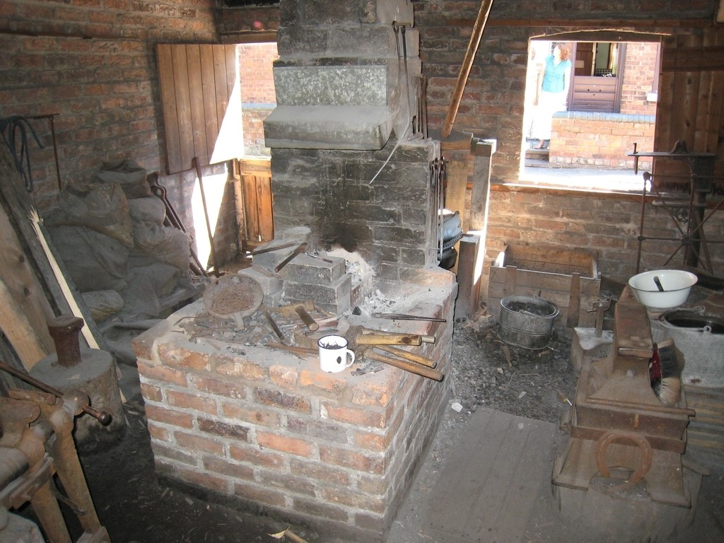 The Nailmakers hearth at the Black Country Living Museum