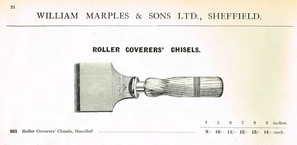 Roller Coverer's Chisel